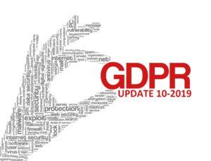 GDPR UPDATE 10-2019